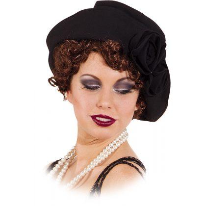 5564cf33739 dámský klobouk 20. léta černý II