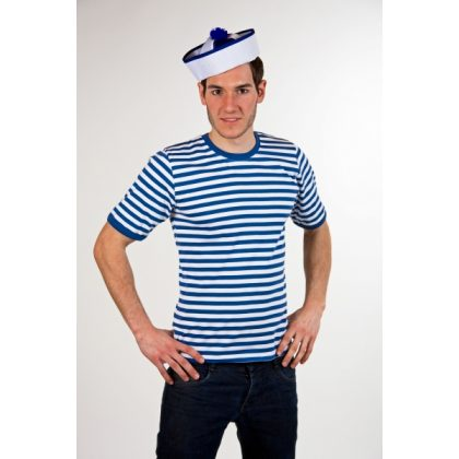 12ecc4d470f modrobílé tričko pánské L
