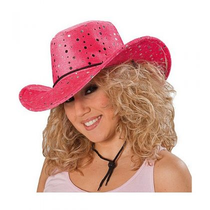 eff523735cb dámský kovbojský klobouk sametový s flitry