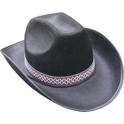 376c64ccd8c Kovbojský klobouk černý s páskem