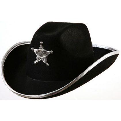 Kovbojský klobouk černý s hvězdou 64fb03c19c