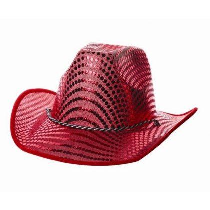 0732a9f4a2b Kovbojský klobouk červený Party