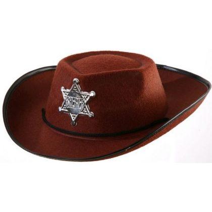 dětský kovbojský klobouk hnědý ad79894b99