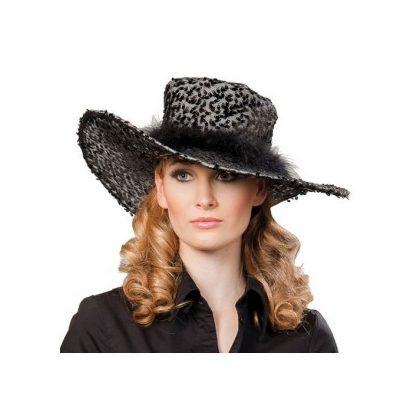 39019ea462e dámský klobouk s flitry černý