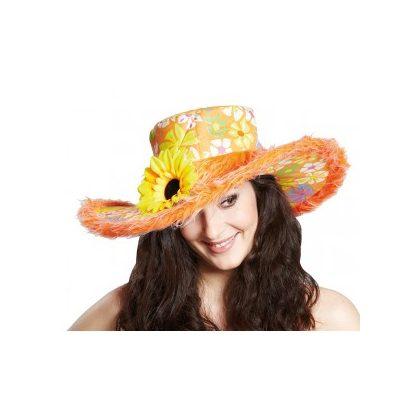 f3e0a45c5b3 dámský klobouk hippie oranžový