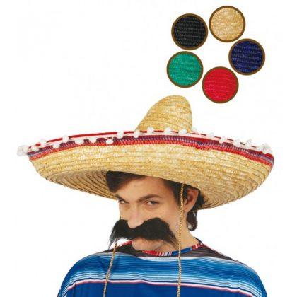 mexický klobouk s pompony da9575b87d