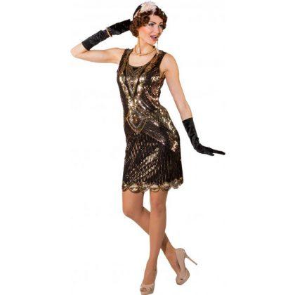 16982dc63346 šaty dvacátá léta de luxe černozlaté