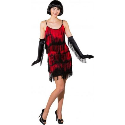 1b21dcbcfca šaty dvacátá léta de luxe černočervené