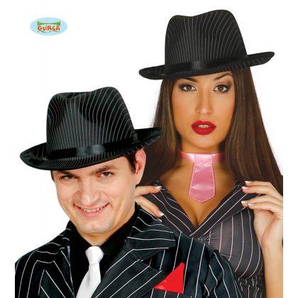 černý klobouk s bilými pruhy 65334295c9