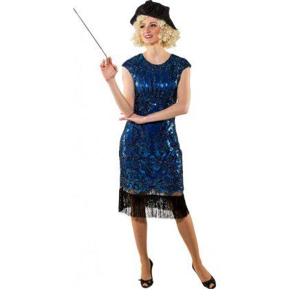 891f3621e charleston šaty modré de luxe