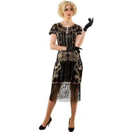 dcb84aff583 charleston šaty černé de luxe