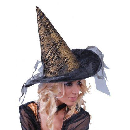 čarodějnický klobouk zlatý cdadb51229