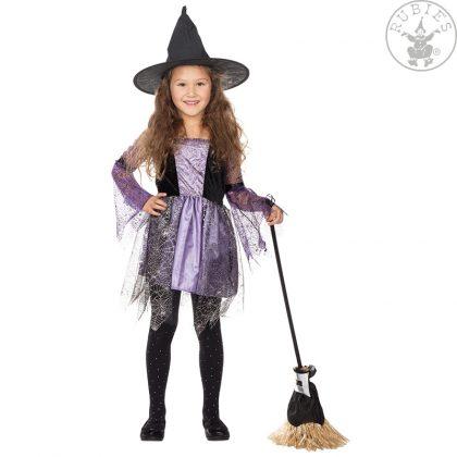 a713643c0bb2 dětská čarodějnice černo-fialová-šedová