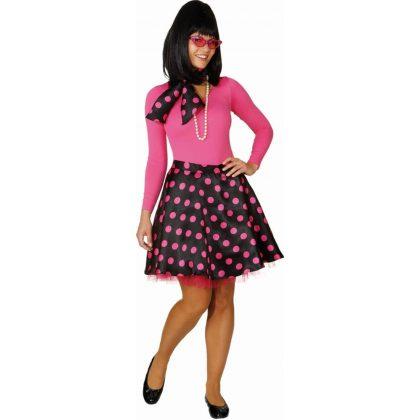 fbfcabb6284f Rock n Roll sukně tečkovaná růžová