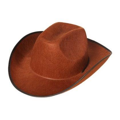 b8c900d3892 kovbojský klobouk hnědý hladký