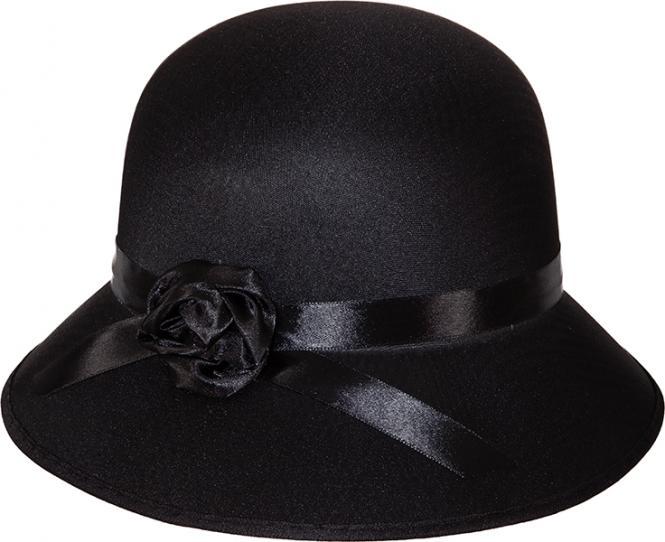 dámský klobouk 20. léta černý 770da26121