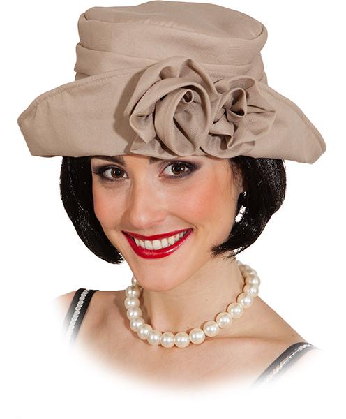 dámský klobouk 20. léta hnědošedý 374e9158b9