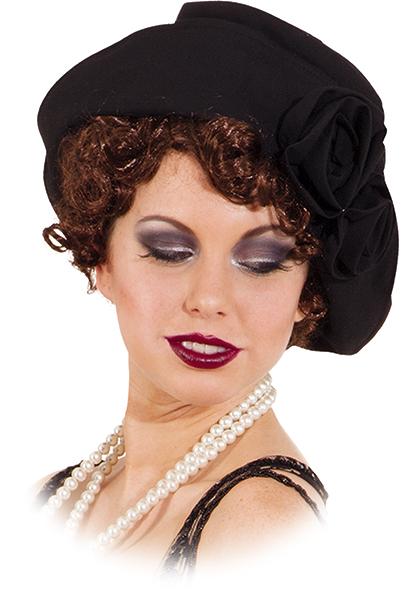 dámský klobouk 20. léta černý II 9d3c9568b5