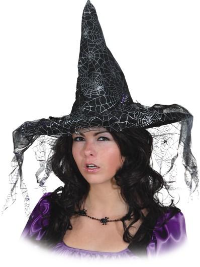 f7effbfa987 čarodějnický klobouk s motivy pavučiny