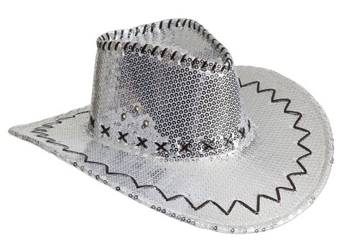 2fa17fd5234 kovbojský klobouk stříbrný