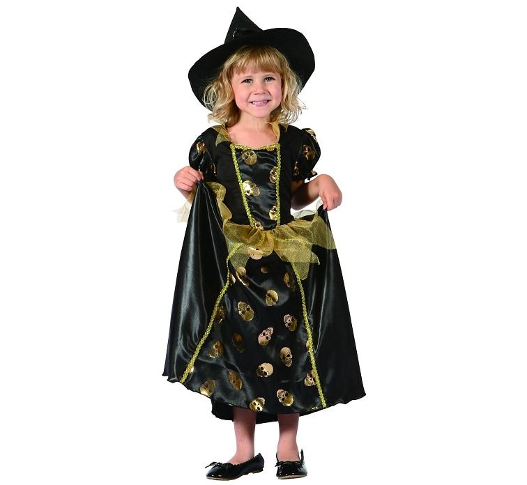 dětský kostým halloween malá čarodějnice de829201cbf