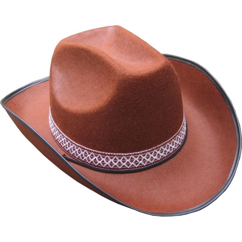 Kovbojský klobouk hnědý s páskem b813622e81