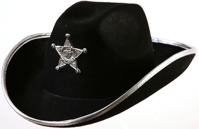 cac25db825e Kovbojský klobouk černý s hvězdou