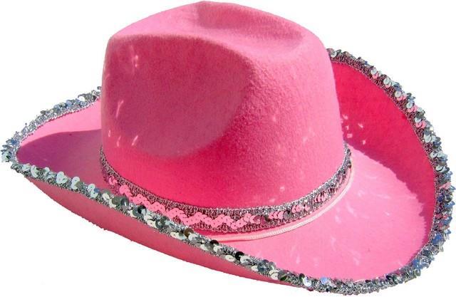 8c2b762e8ce Kovbojský klobouk růžový s flitry