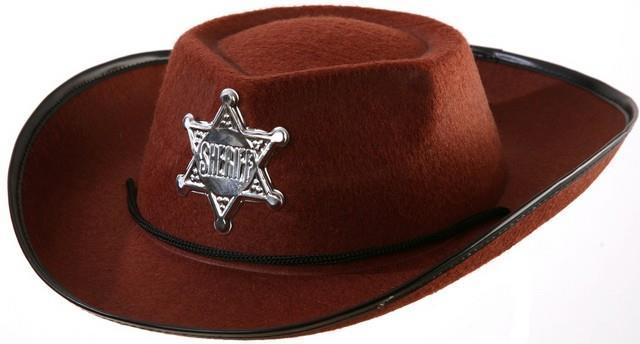 dětský kovbojský klobouk hnědý 274422d5bc