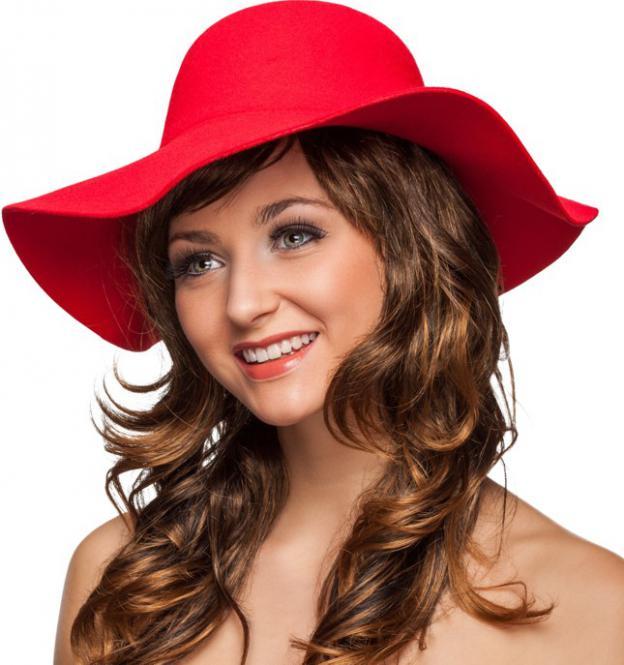 b1389c2ed86 červený klobouk dámský