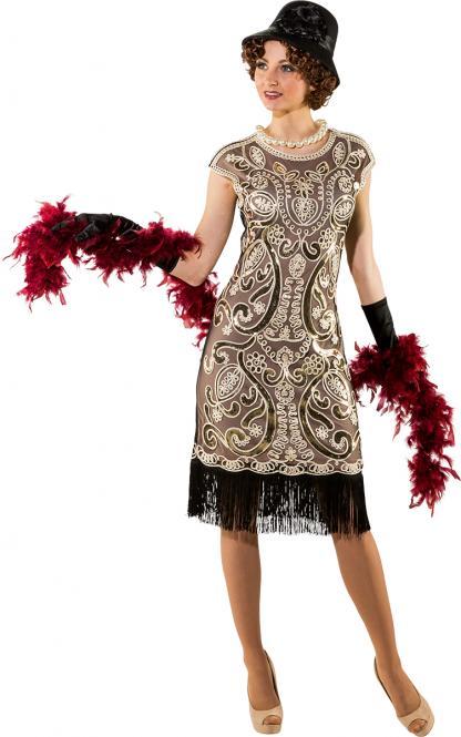 da3496e4637 charleston šaty béžové de luxe