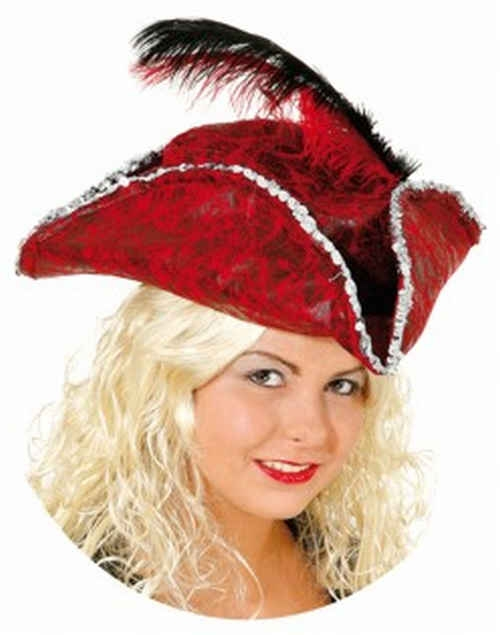 705d0f5d702 historický klobouk s peřím červený